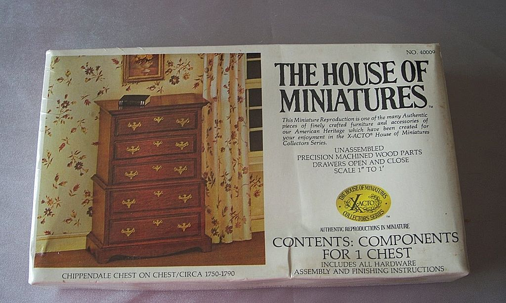 The House Of Miniatures Chippendale Chest on Chest Dollhouse Furniture