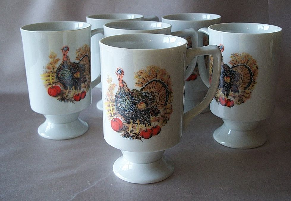 Holiday Thanksgiving Ceramic Coffee or Tea Mugs