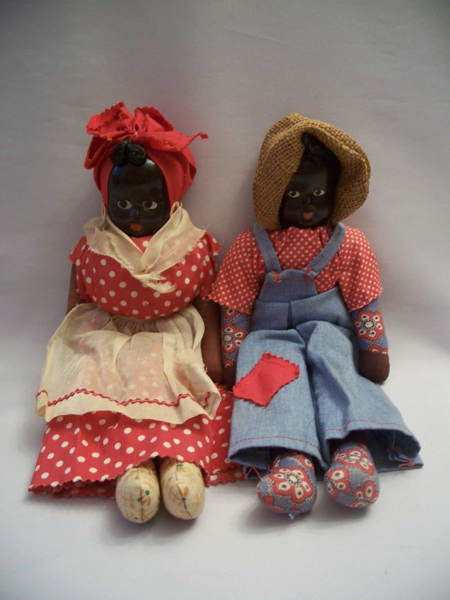 Two Vintage Black Memorabilia Dolls Poland