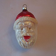 West Germany Santa Head Christmas Ornament