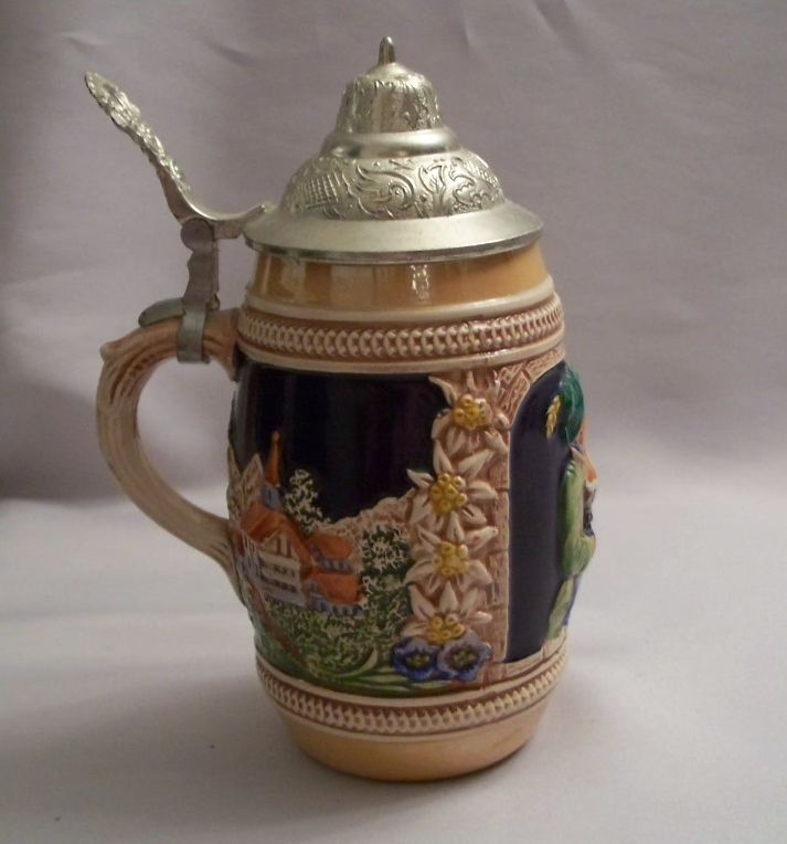 RARE VINTAGE GERZ W. GERMANY LIDDED BEER STEIN Soldier ... |Vintage West Germany Beer Steins