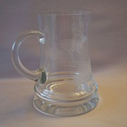 Etched Crystal  Deer Beer Stein