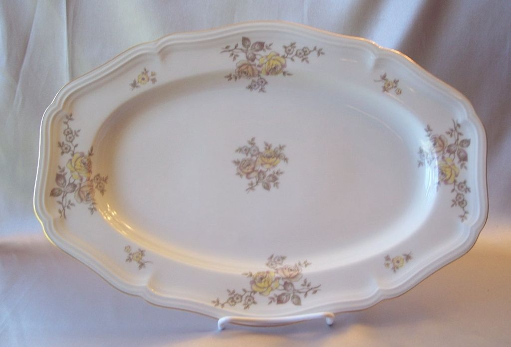 Johann Haviland Bavaria Germany Chippendale Regency Serving Platter