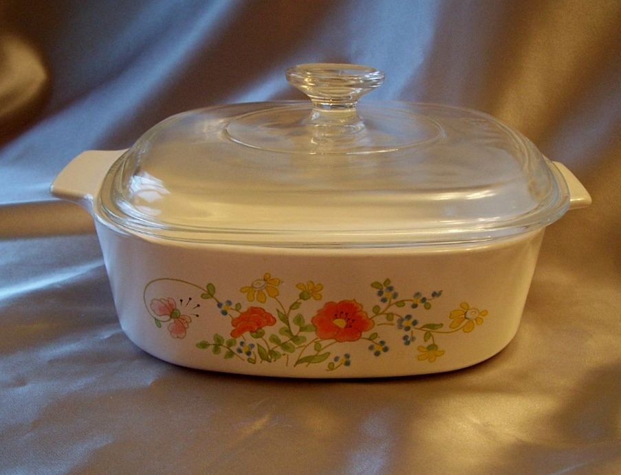 Corning Ware Wild Flower Casserole Dish From