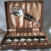 ENPS Made In England  Silverplate Dessert Set