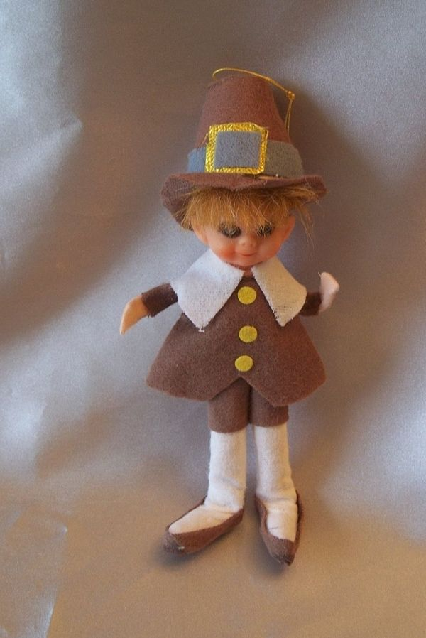 Thanksgiving Decoration  Pilgrim Pixie Boy