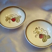 Metlox Poppy Trail Strawberry  Cereal Bowls