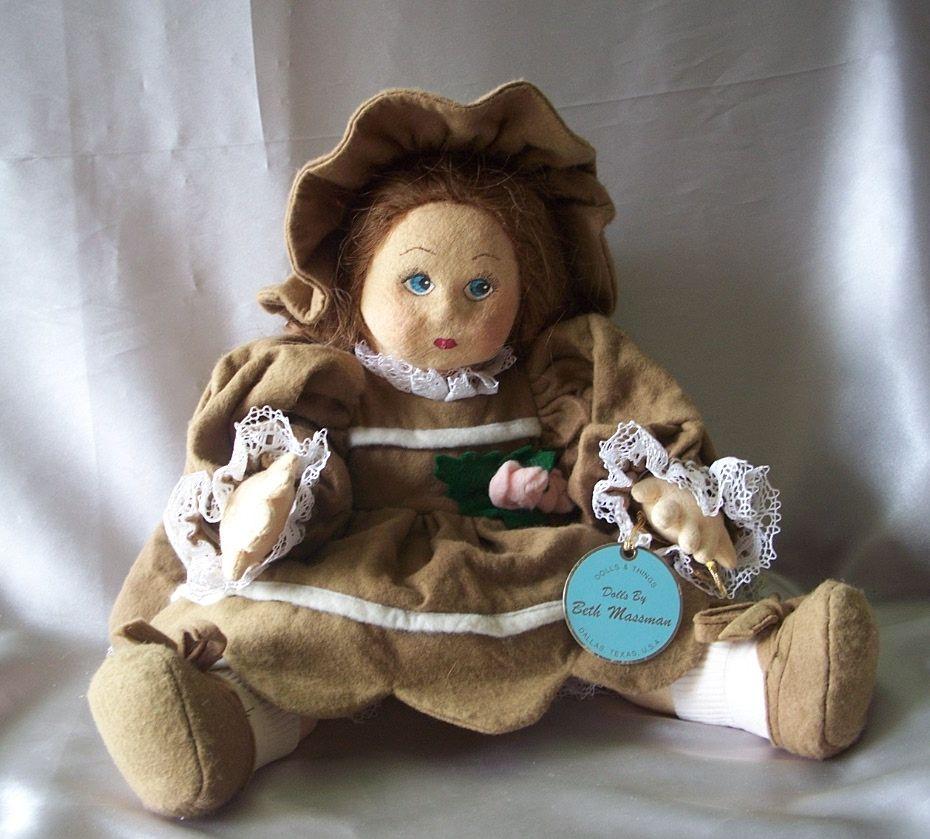 Felt Doll By Artist Beth Massman