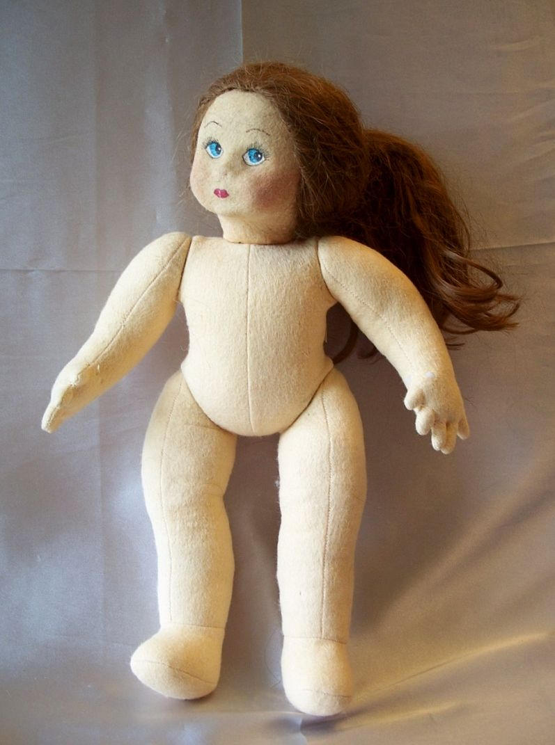 doll with hair to style felt doll by artist beth massman from colemanscollectibles 9376