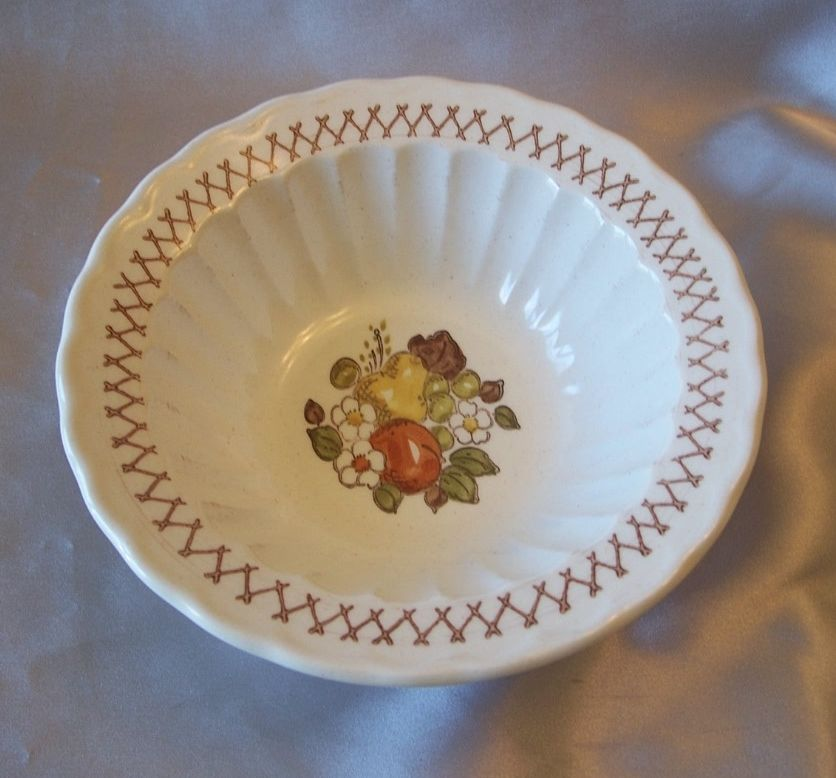 Vernon  Ware Metlox  Fruit Basket Cereal Bowl