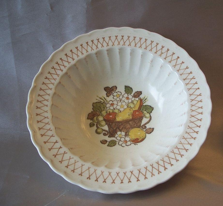 Vernon Ware Metlox Fruit Basket Serving Bowl