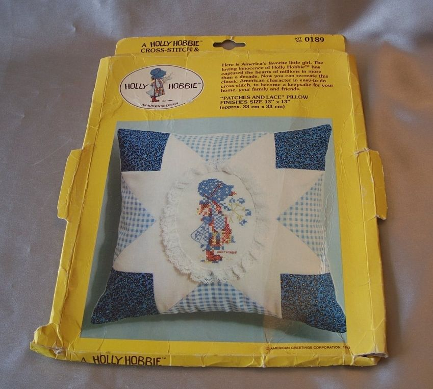 Holly Hobbie Cross Stitch And Applique Pillow Kit
