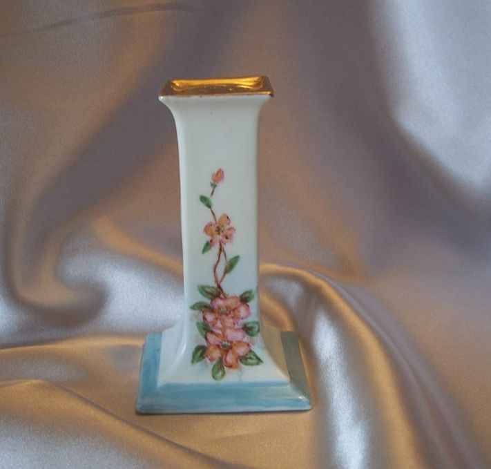 O & E G Royal Austria Porcelain Hat Pin Holder