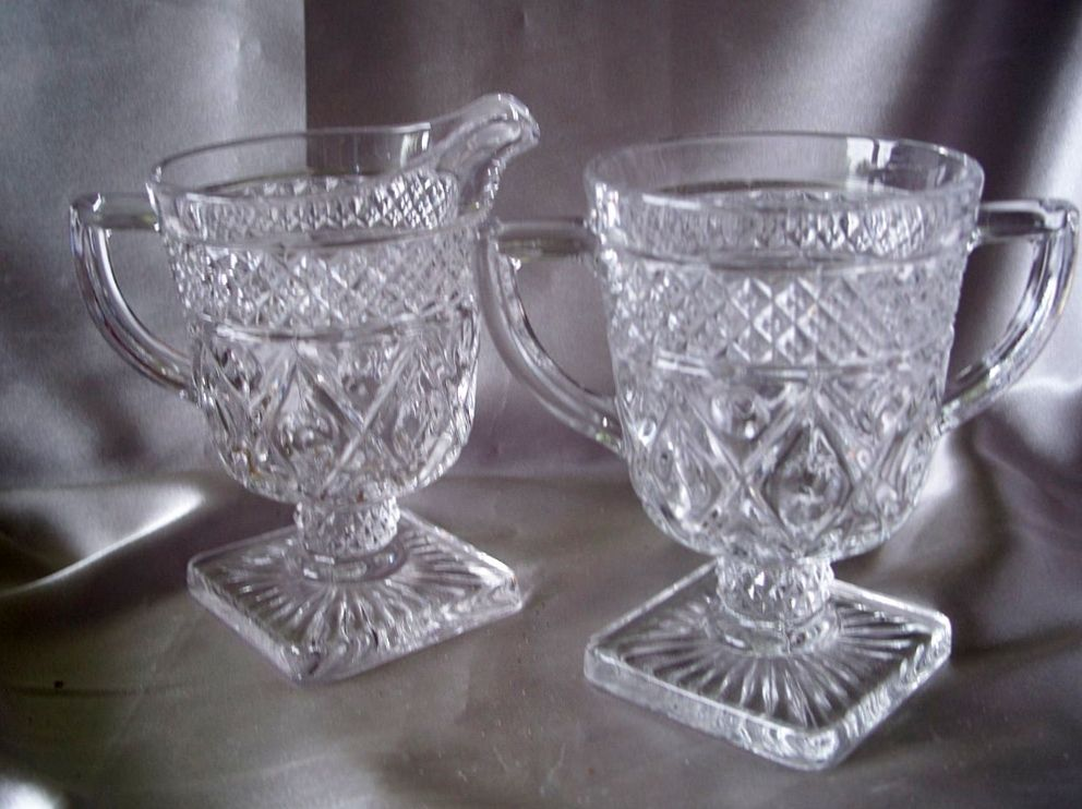 Imperial Glass Sugar and Creamer Set