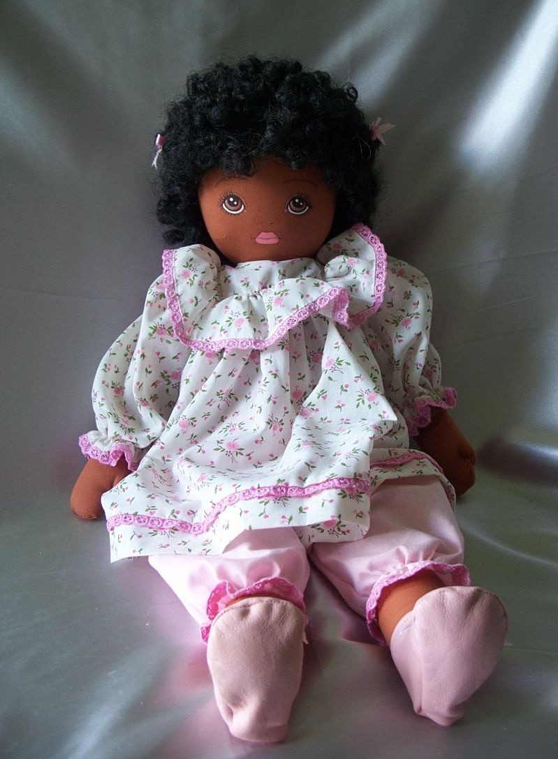 Pauline Bjonness Jacobsen Black Cloth Doll