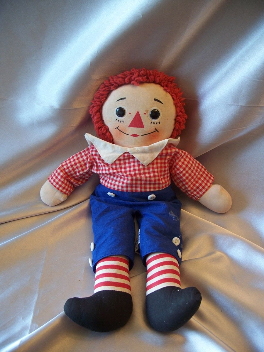 Knickerbocker Raggedy Andy Vintage  Musical Doll