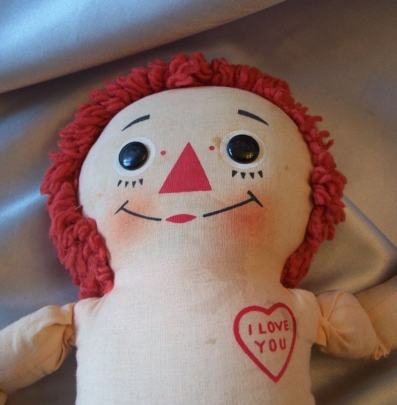 Knickerbocker Raggedy Andy Vintage Musical Doll From