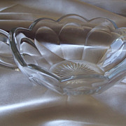 Heisey Glass  Colonial Crystal Open Jam Dish