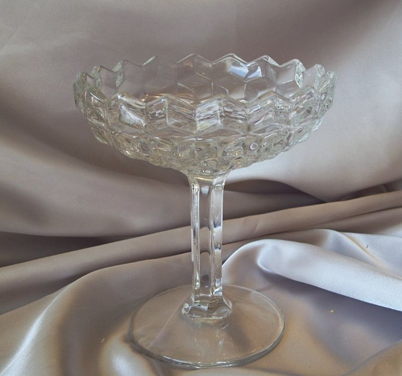 Fostoria American Crystal Glass Comport