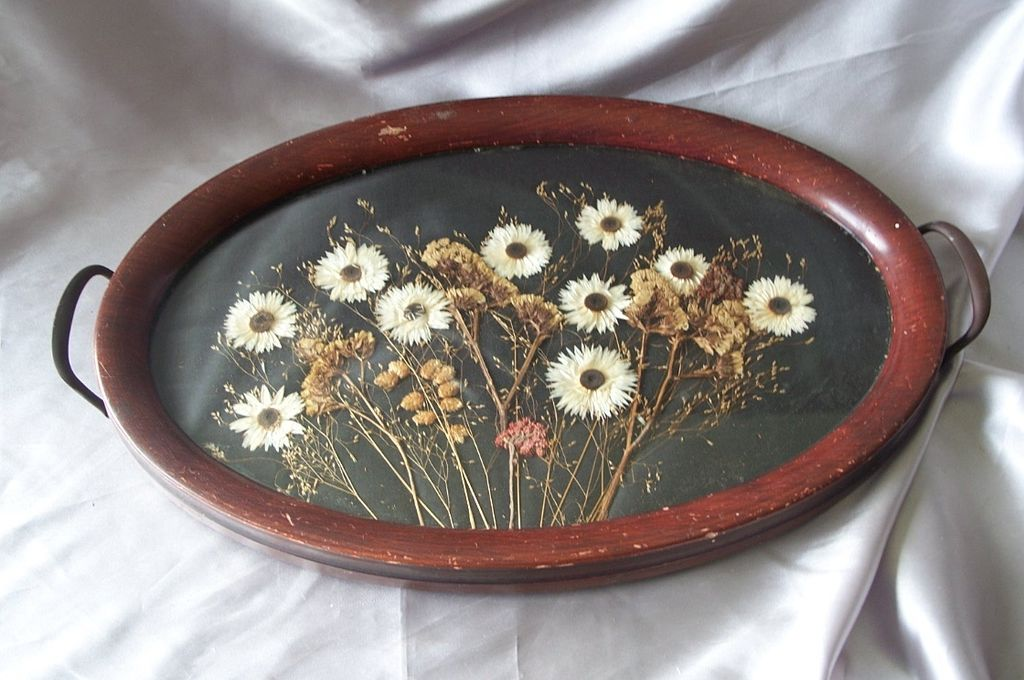 Victorian Dried and Pressed Flower Tray