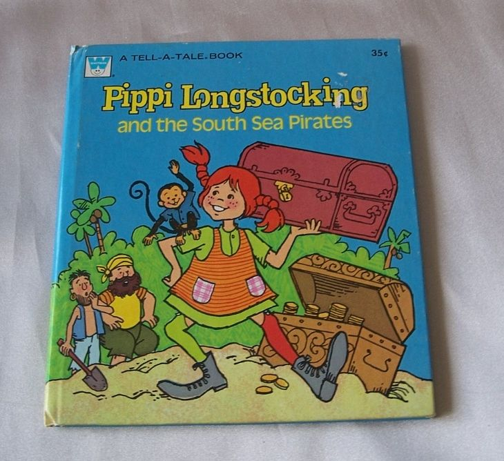 Whitman Pippi Longstocking A Tell A Tale Book