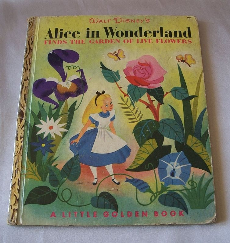 Little Golden Book Walt Disney's ALice In Wonderland