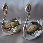 Wm. A  Rogers Swan Candle Holder Made In Japan