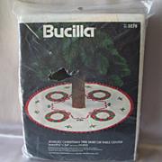 Bucilla Christmas Tree Skirt Or Table Center Wreaths Kit