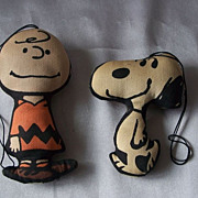 Vintage Peanut Gang Charlie Brown and Snoopy Cloth Ornaments