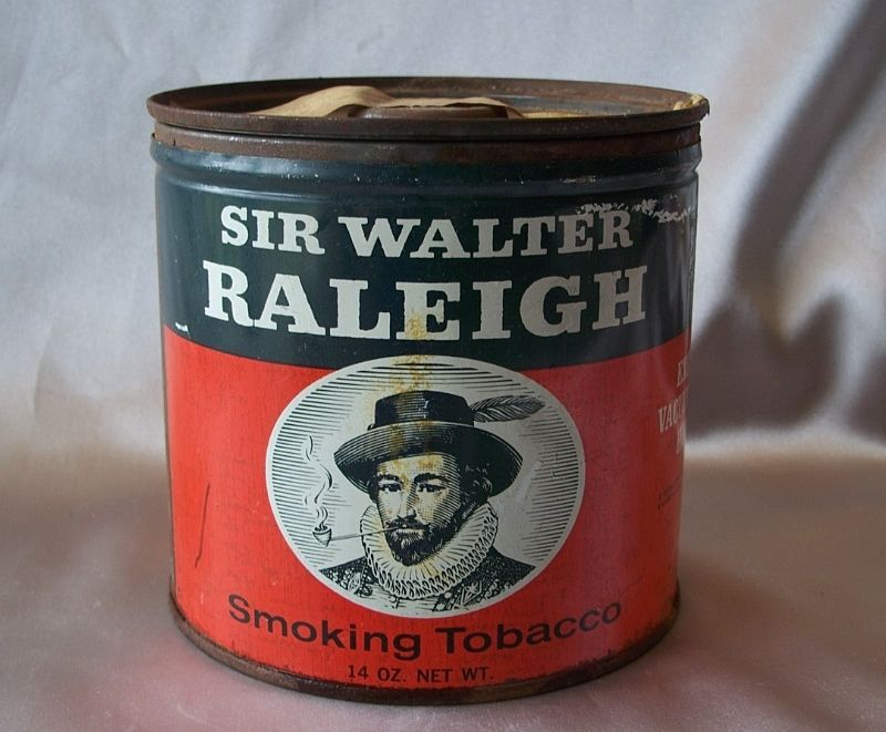 Sir Walter Raleigh Smoking Tobacco Tin