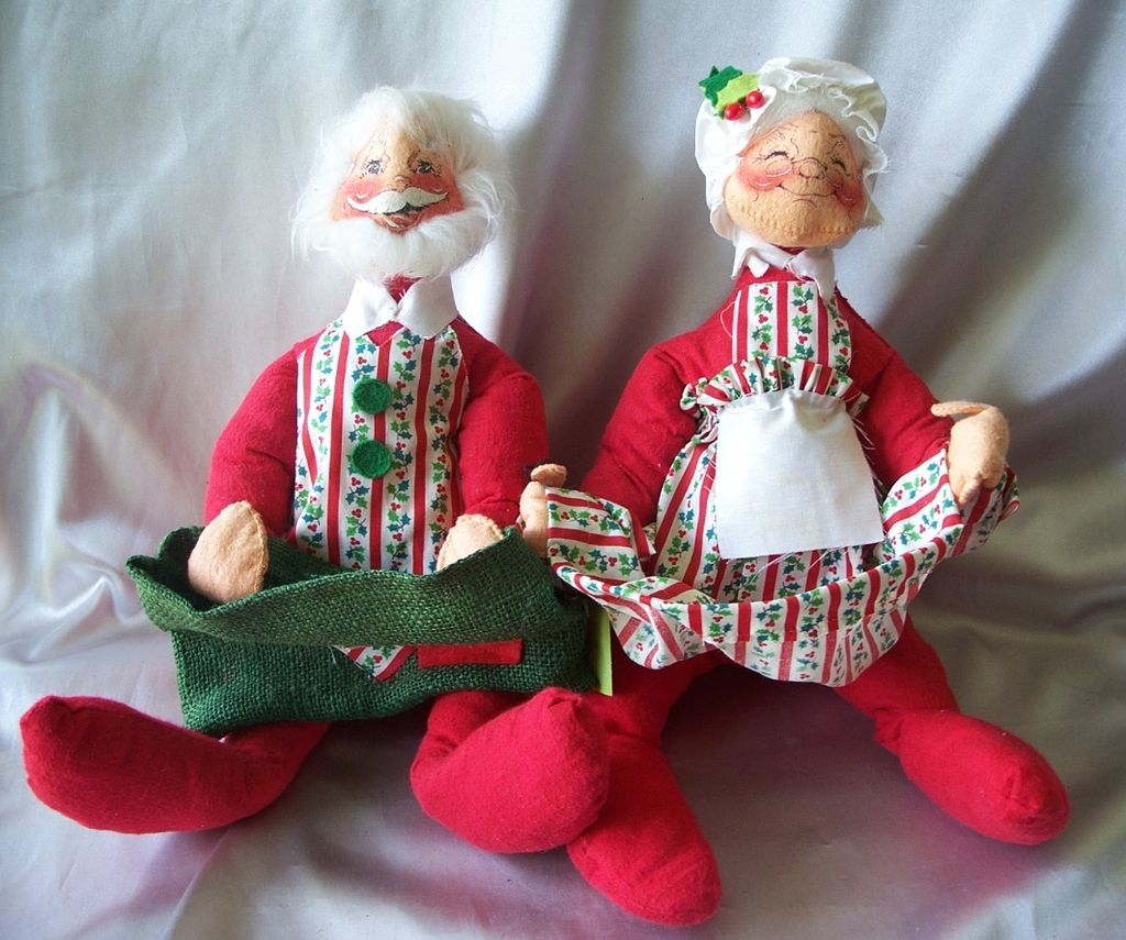 Vintage Santa Claus and Mrs. Claus Annalee Dolls SOLD on Ruby Lane