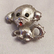 Monet Puppy Dog  Pin