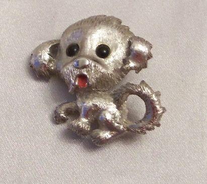 Beautiful Monet Puppy Dog  Pin