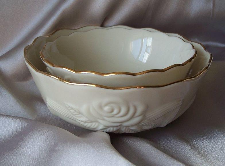 Lenox Rose Blossom Bowls