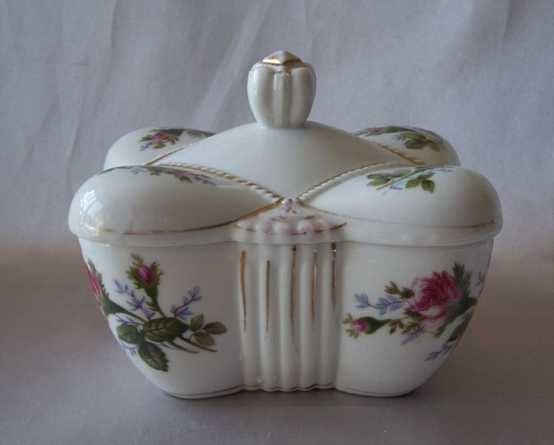 Moss Rose Ceramic Trinket Box
