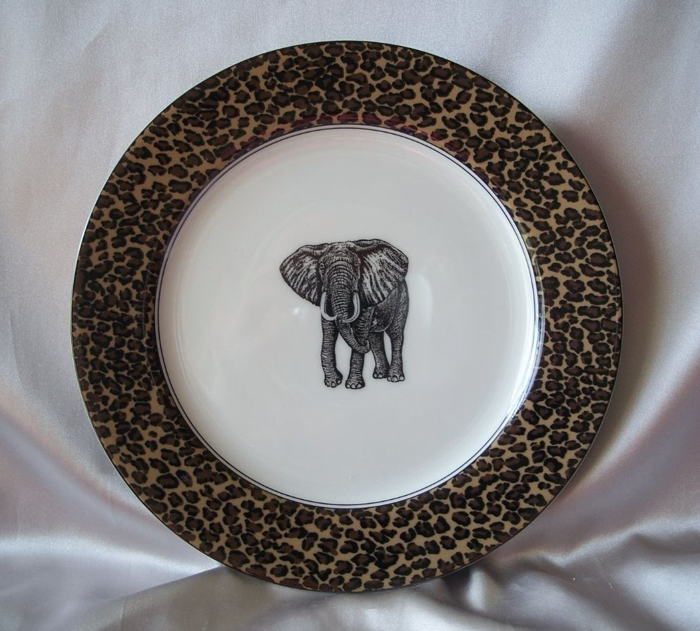 Serengeti Elephant Luncheon Plate Fitz & Floyd