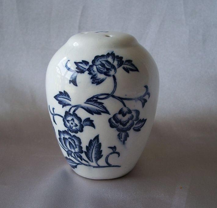 Ceramic Blue Onion Pepper Shaker
