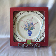 Lenox Colonial Bouquet Delaware Collector Plate