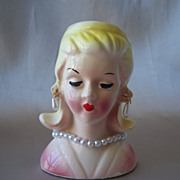 Pretty Vintage Little Lady Head Vase