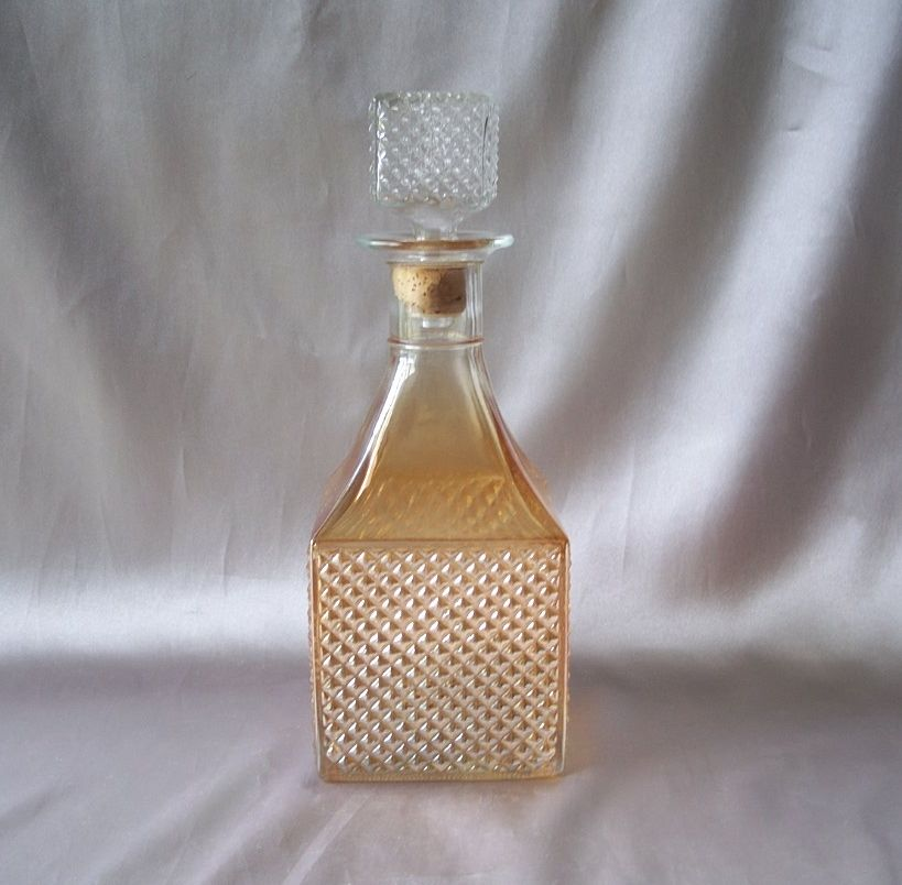 Vintage Iridescent Glass Decanter