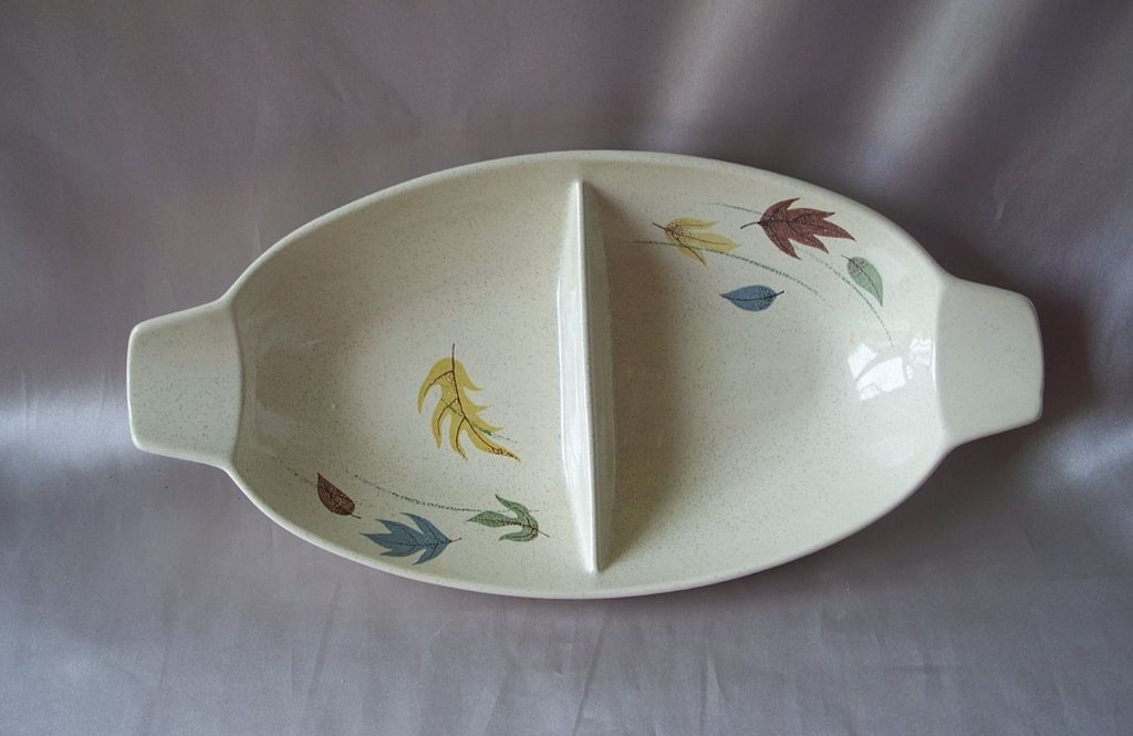 Franciscan Autumn  Oval Divided Vegetable Bowl