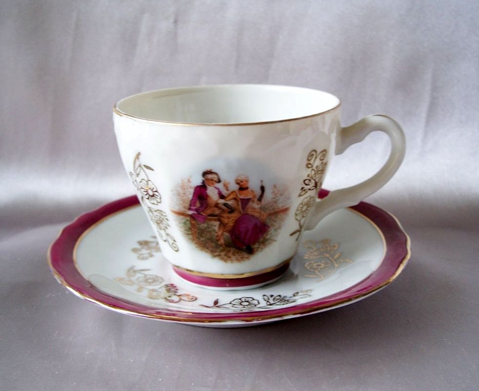 Beautiful Demitasse Cup And Saucer   Japan