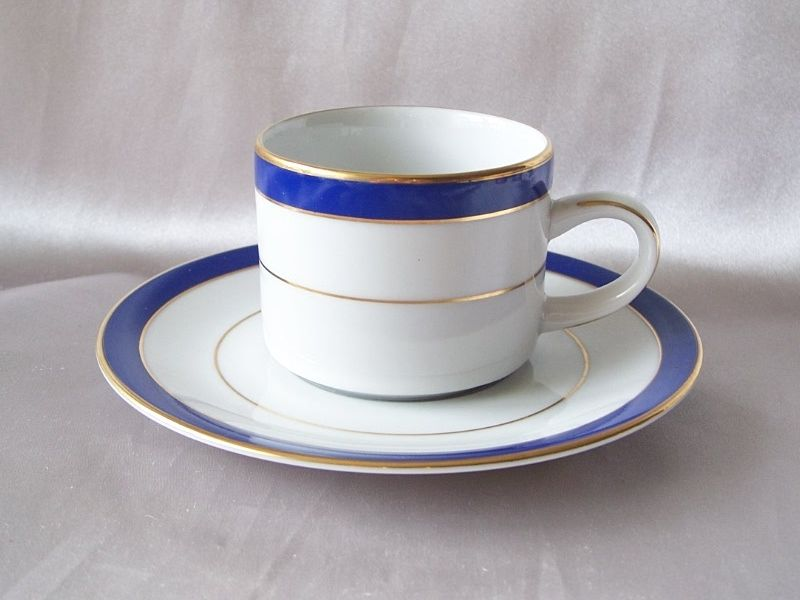 Muirfield China Royal Lapis Demitasse Cup And Saucer