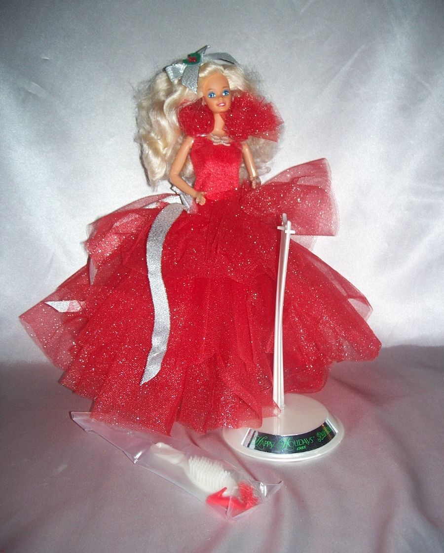 1988 Happy Holiday Christmas Barbie Doll