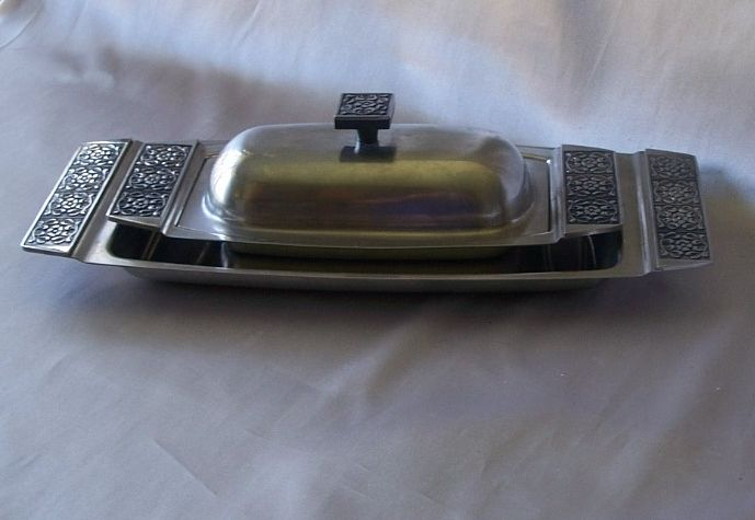 Stanley Roberts Velet Bread Platter And Covered Butter Dish