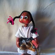 Mexican Folk Art Gourd Doll