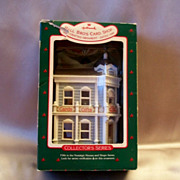 Hallmark Hall Bros Card Shop Nostalgic House Christmas Ornament 1988