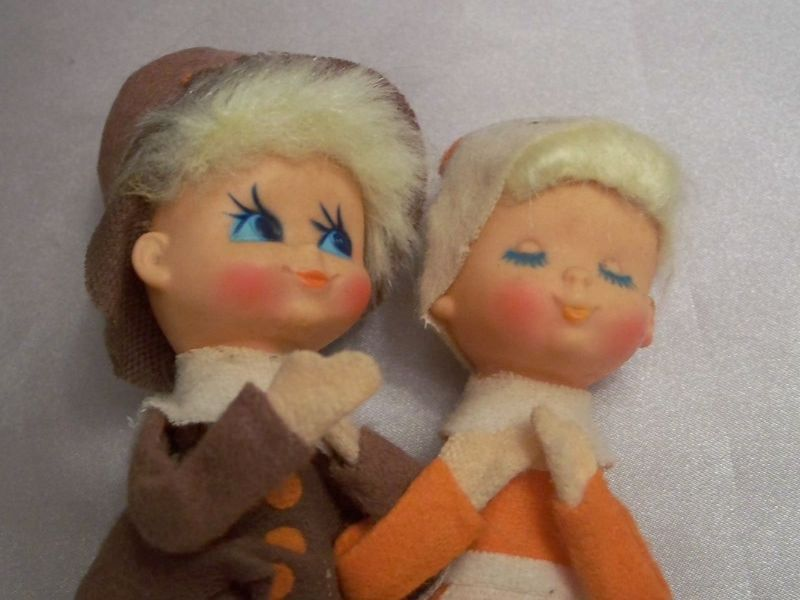 Cute Vintage Thanksgiving Pilgrim Pixies