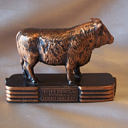 Pfaelzer Brothers Advertising Steer Paperweight