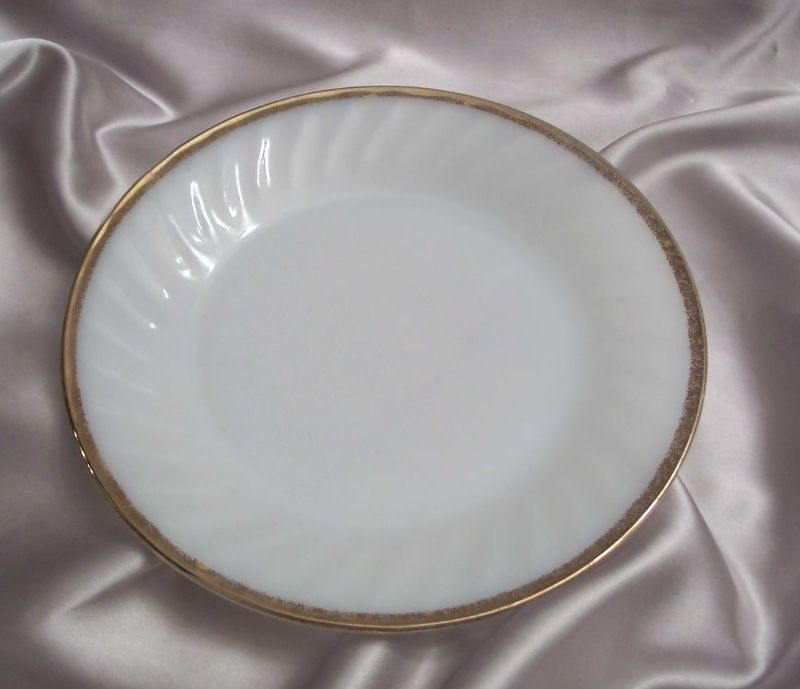 Fire King Golden Anniversary Swirl Dinner Plate
